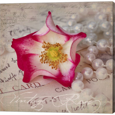 Metaverse Art Rose Romance III Gallery Wrapped Canvas Wall Art