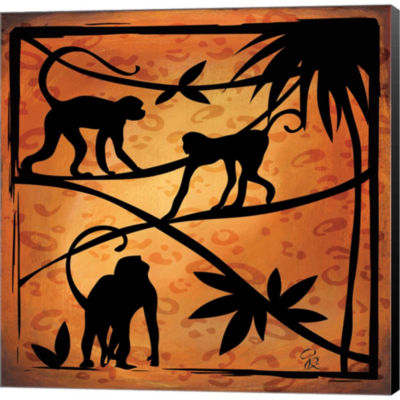 Metaverse Art Safari Silhouette II Gallery WrappedCanvas Wall Art