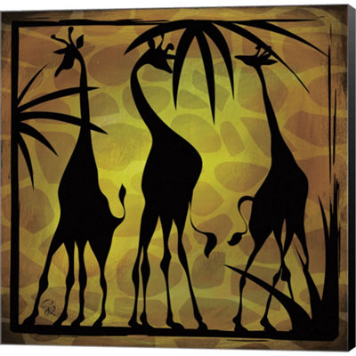 Metaverse Art Safari Silhouette III Gallery Wrapped Canvas Wall Art