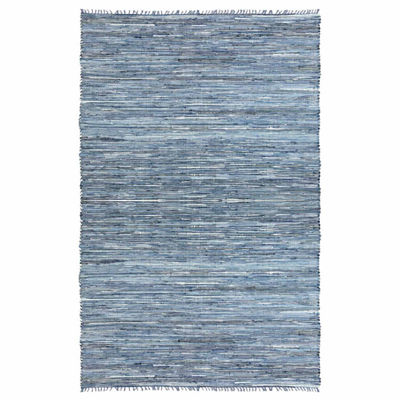 St. Croix Trading Matador Leather & Denim Dhurry Rectangular Rugs