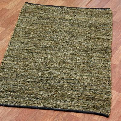 St. Croix Trading Matador Leather Chindi Rectangular Rugs