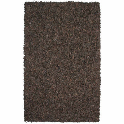 St. Croix Trading Pelle Leather Shag Rectangular Rugs