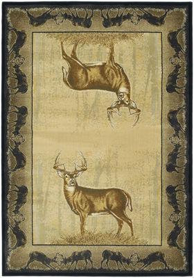 United Weavers Buckwear Collection Believe Deer Rectangular Rug
