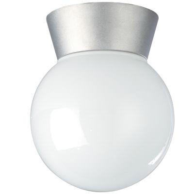 Filament Design 1-Light Satin Aluminum Outdoor Flush Mount