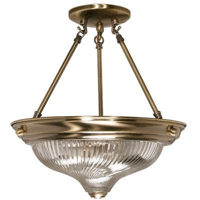 Filament Design 2-Light Antique Brass Semi-Flush Mount