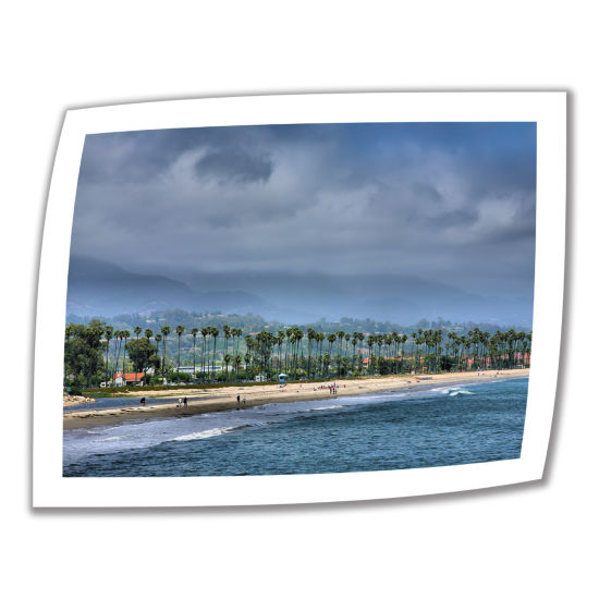 Brushstone The Beach at Santa Barbara Canvas Poster Wall Art