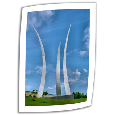 Brushstone Air Force Memorial Canvas Poster Wall Art
