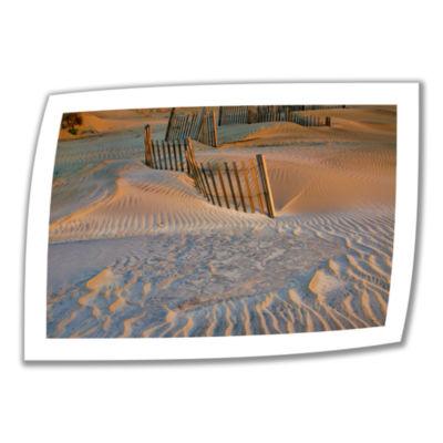 Brushstone Dune Patterns II Canvas Poster Wall Art