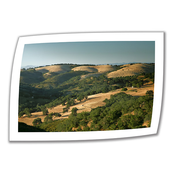 Brushstone Hills of California Canvas Poster WallArt