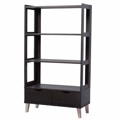 Baxton Studio Kalien 2-Drawer Bookshelf