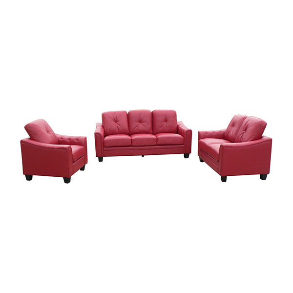 Walden Bonded Leather Loveseat