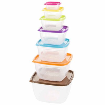 14-Piece Square Food Storage Set