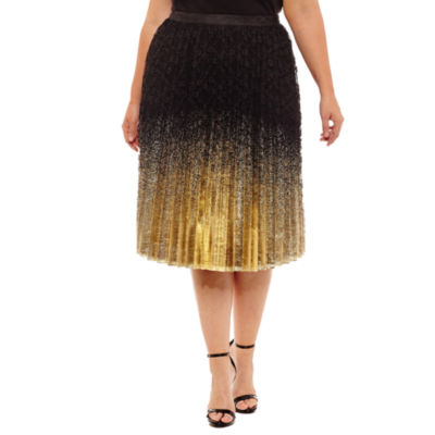 Worthington Pleated Full Skirt-Plus