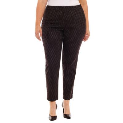 Worthington Straight Leg Slim Fit Trousers - Plus