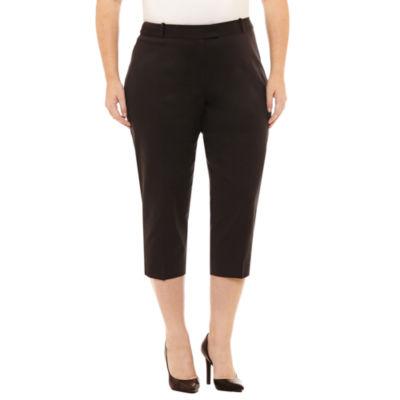 Liz Claiborne Emma Crop Pants-Plus