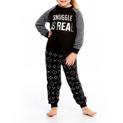Holiday Famjams Black and Gray Fairisle 2 Piece Pajama Set - Unisex Toddler