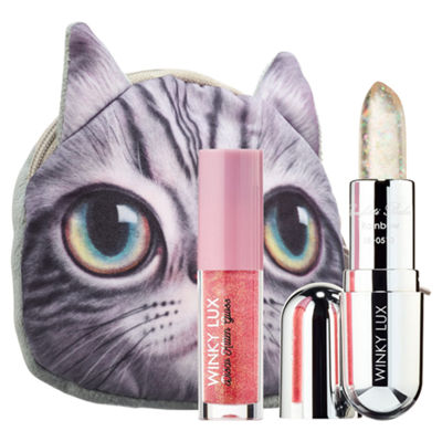 Winky Lux Sparkle Kitty Lip Gloss + Balm Kit