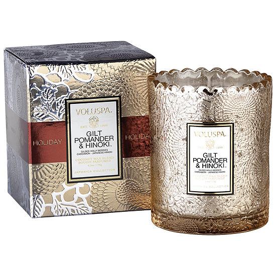 VOLUSPA Gilt PomanderBoxed Scalloped Candlepot