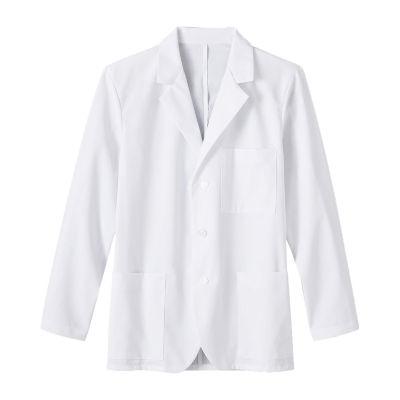 White Swan Mens Long Sleeve Lab Coat-Big