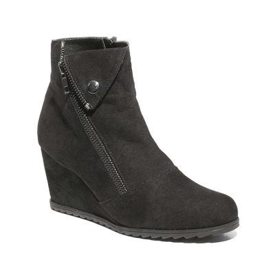 Journee Collection Womens Noble Booties Block Heel Zip