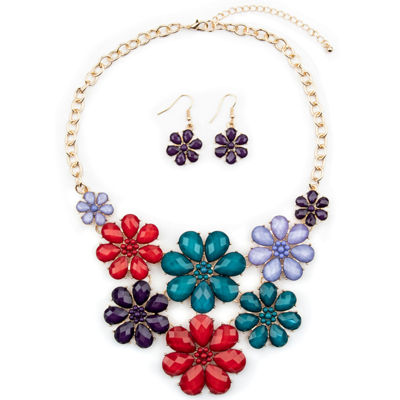Mixit Gold Tone Flower 3-pc. Jewelry Set