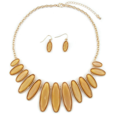 Mixit Womens Gold Tone Oval 3-pc. Jewelry Set