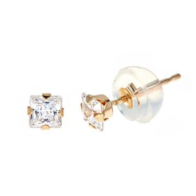 3/4 CT. T.W. White Cubic Zirconia 14K Gold 3mm Stud Earrings