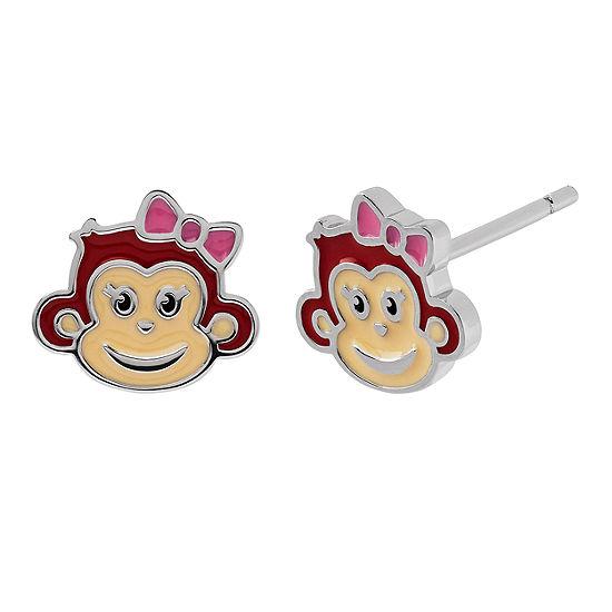 cbe8813bf72 Nana S Crazy Monkeys Sterling Silver Stud Earrings - JCPenney