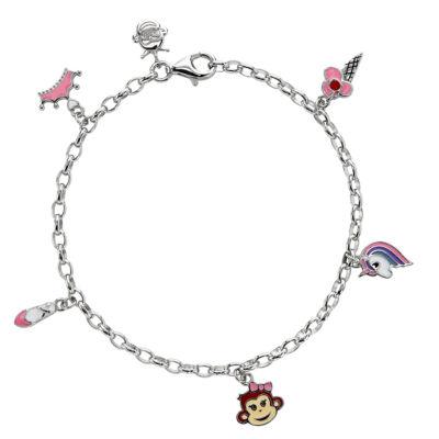 Nana's Crazy Monkeys Children'S Charm Bracelet