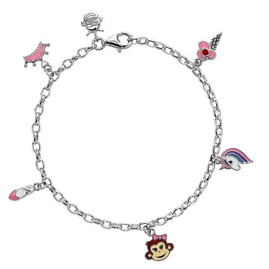 Nana's Crazy Monkeys Children'S Sterling Silver Charm Bracelet