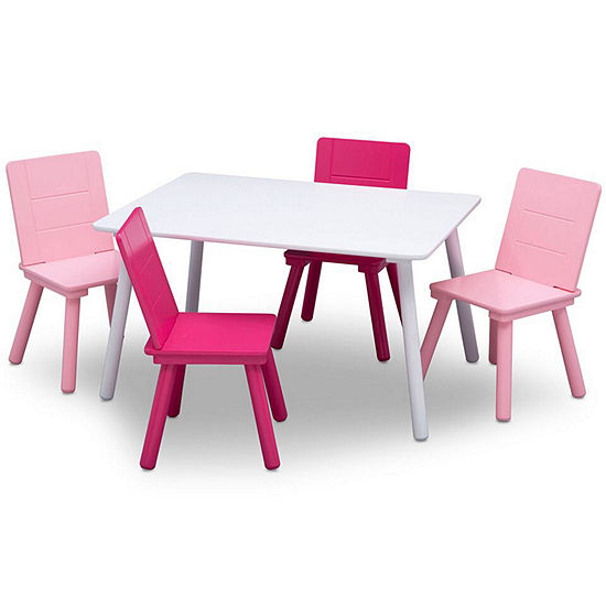 Awe Inspiring Delta Children 5 Pc Kids Table Chairs Gmtry Best Dining Table And Chair Ideas Images Gmtryco