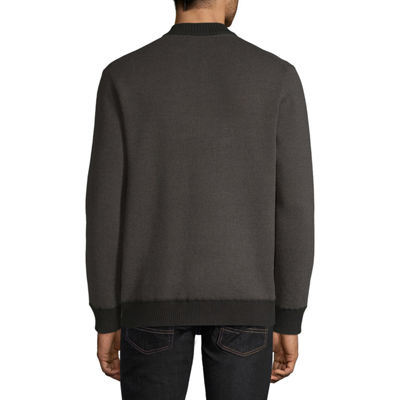 Claiborne Full Zip Bomber Sweater