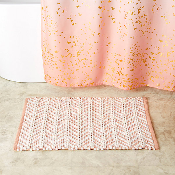 Saturday Knight Pastel Petals Bath Rug