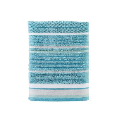Saturday Knight Neutral Nuances Seabrook Stripe Bath Towel
