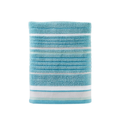 Saturday Knight Neutral Nuances Seabrook Stripe Bath Towel