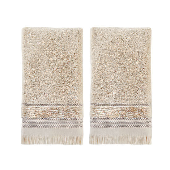 Saturday Knight Neutral Nuances Jude 2 Pk Hand Towels