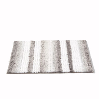 Saturday Knight Neutral Nuances Stripe Fade Bath Rug