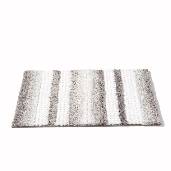 Saturday Knight Neutral Nuances Stripe Fade Bath Rug