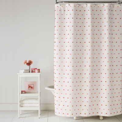 Saturday Knight Neutral Nuances Colorful Dots Shower Curtain