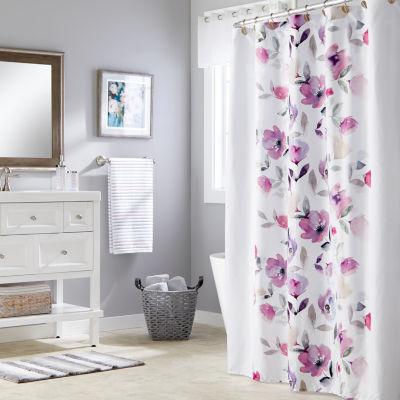 Saturday Knight Neutral Nuances Garden Mist Shower Curtain