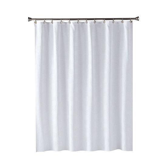 Saturday Knight Neutral Nuances Large Basket Weave Shower Curtain