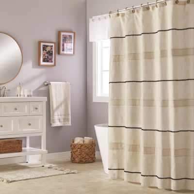Saturday Knight Neutral Nuances Frayser Shower Curtain