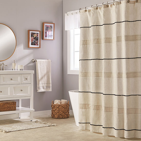 Saturday Knight Neutral Nuances Frayser Shower Curtain
