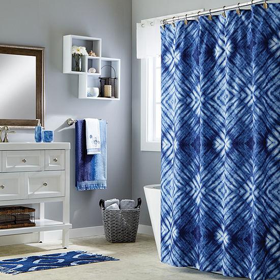 Saturday Knight Batik Blues Zarrie Shower Curtain