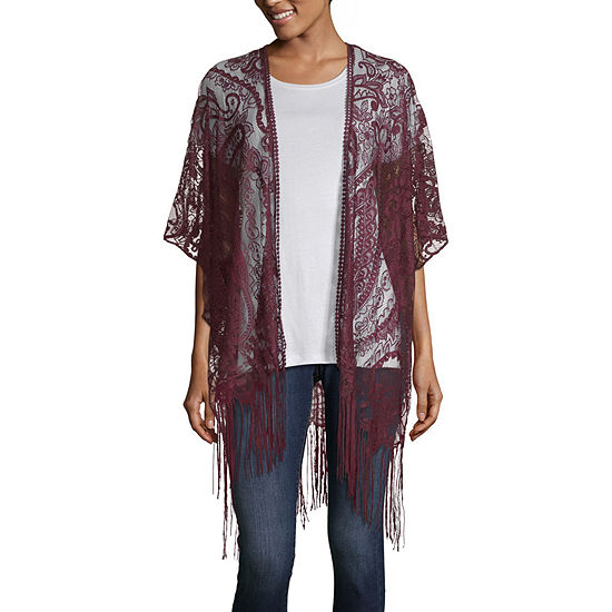 Mixit Lace 3 4 Sleeve Kimono