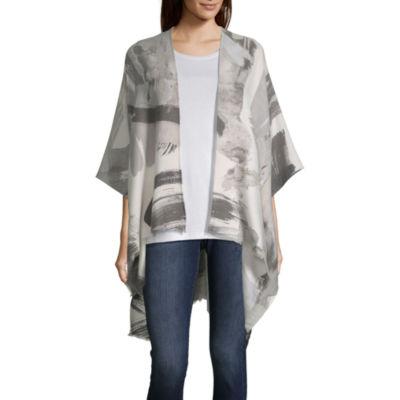 Mixit Brushstroke 3/4 Sleeve Kimono