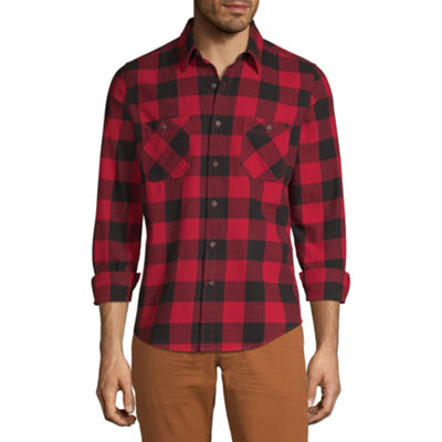 Peyton & Parker Mens Long Sleeve Flannel Shirt
