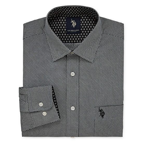U.S. Polo Assn. Big And Tall Long Sleeve Geometric Dress Shirt