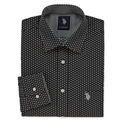U.S. Polo Assn.Dress Shirt Long Sleeve Medallion Dress Shirt - Slim