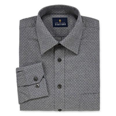 Stafford l Cotton Big And Tall Mens Long Sleeve Dress Shirt